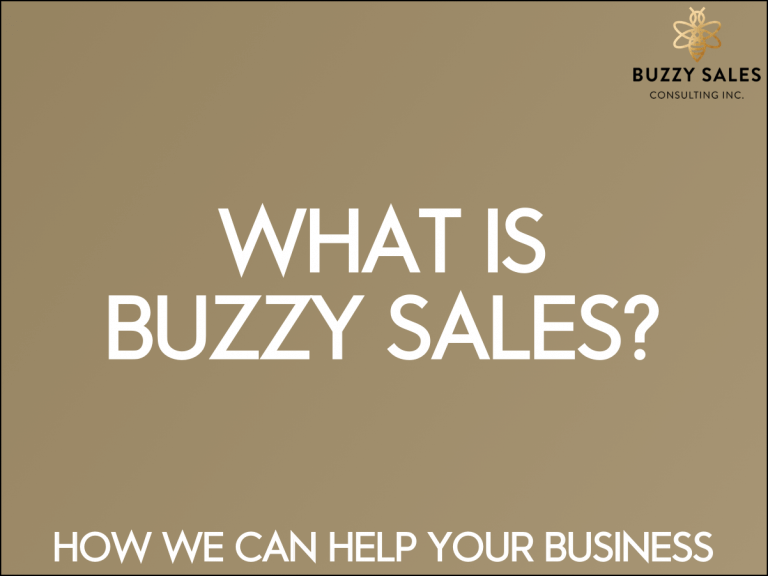 What is Buzzy Sales?